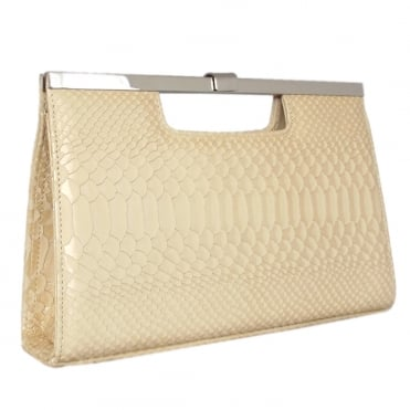 Wye Sabbia Birman Leather Evening Clutch Bag