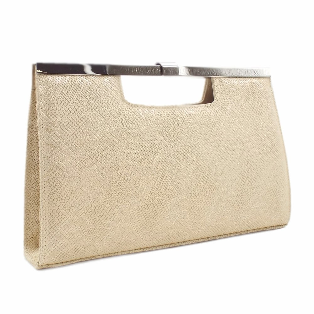 Peter Kaiser Wye   Ladies Evening Clutch Bag in Beige LEather   Mozimo