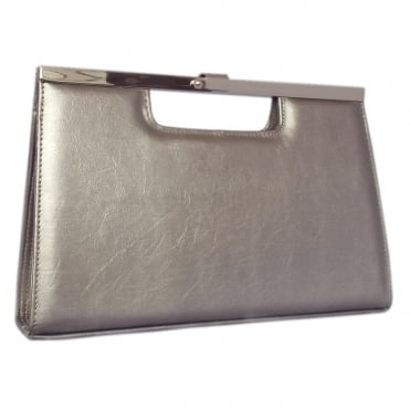 Wye Taupe Furla Leather Evening Clutch Bag
