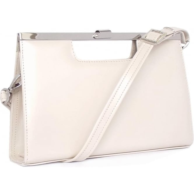 Peter Kaiser Kaiser handbag design Wye with detachable shoulder strap in lana crakle nude