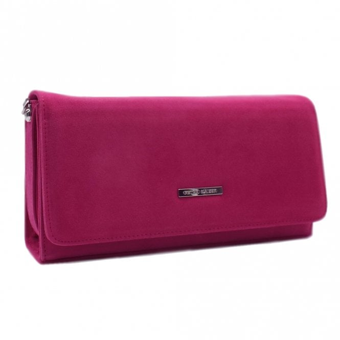 Lanelle Berry Suede Stylish Clutch Bag