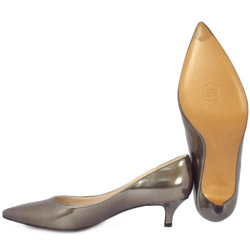 Pewter Heels For Wedding: Visione Lumer Metallic Leather