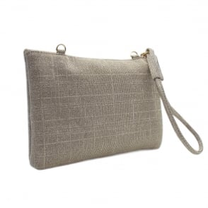 Saldina Sand Shimmer Small Clutch Bag
