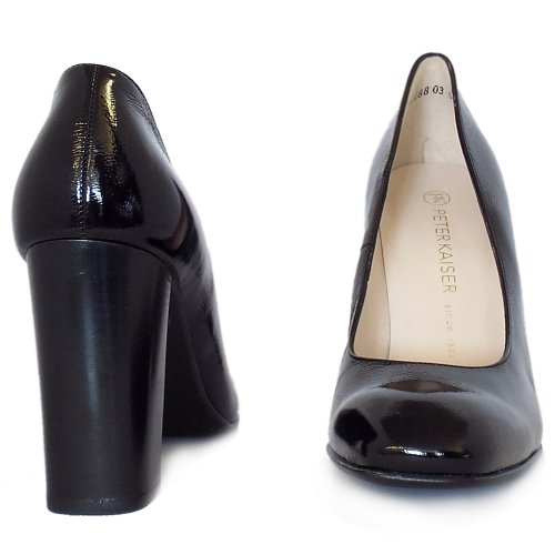 97e0f522a9 Peter Kaiser UK | Sandy | Black Crackle Patent Block Heel Stilettos