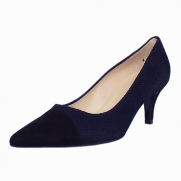 Siren Notte Moon Suede Pointed Toe Pumps