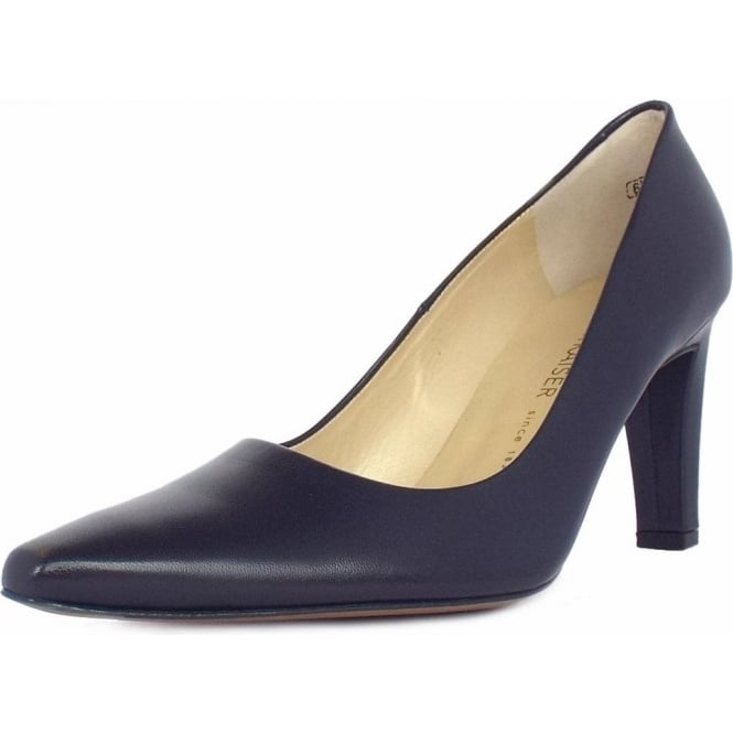 Tosca Ladies Classic Pointed Court Shoes in Navy