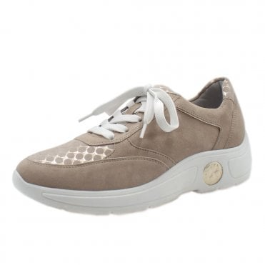 Viana Sneakers in Sand Suede