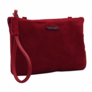 Waida Lipstick Suede Small Clutch Bag
