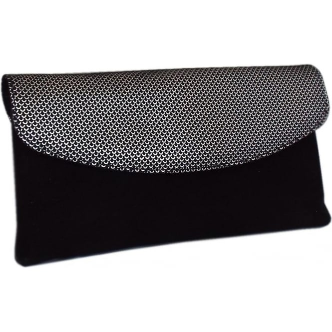 Winema Clutch Bag in Black Suede