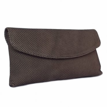 Winema Taupe Moon Suede Clutch