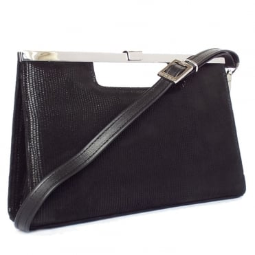 Wye Black Liz Suede Evening Bag
