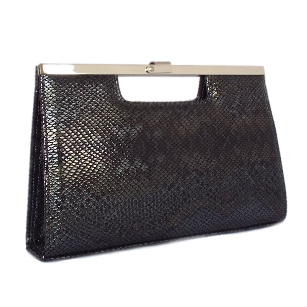 b8b962a927a Peter Kaiser UK | Wye | Black Snake Leather Bag | Free Delivery