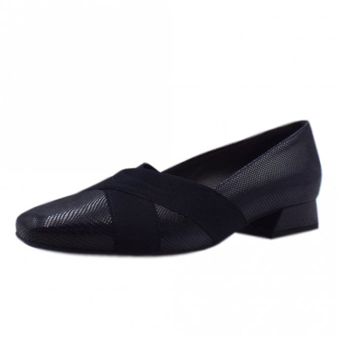 Zenja Low Heel Wide Fit Ballet Pumps in Notte Sarto
